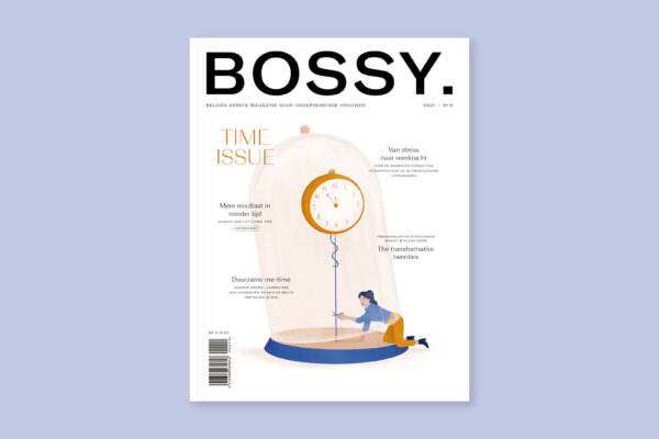 Cover Bossy's Time Issue - Illustratie Flore Deman